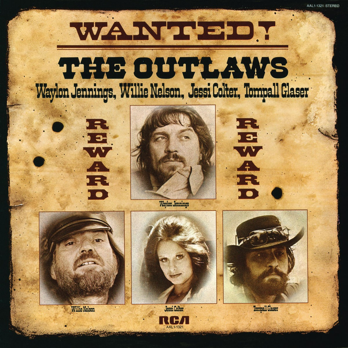 Waylon Jennings , Willie Nelson , Jessi Colter & Tompall Glaser - Wanted! The Outlaws VINYL - 19075958971