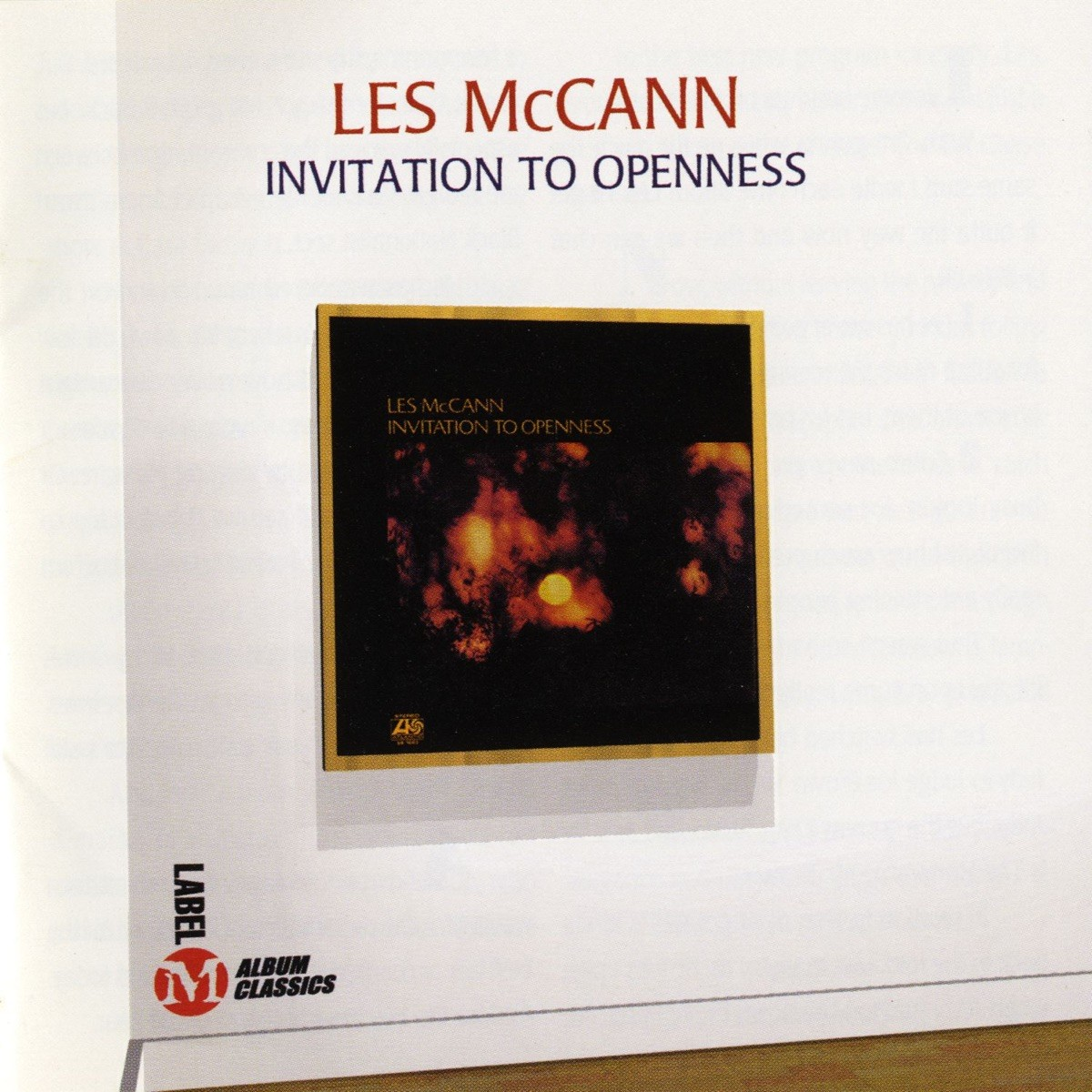 Les McCann - Invitation to Openness CD - OVCD114