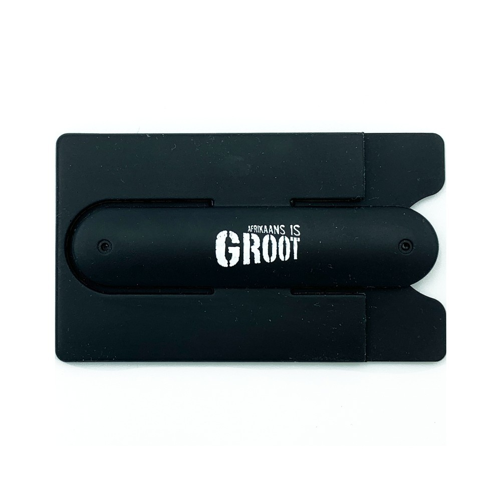 Afrikaans is Groot Credit Card Holder For Phone (Black)  - AIGCB