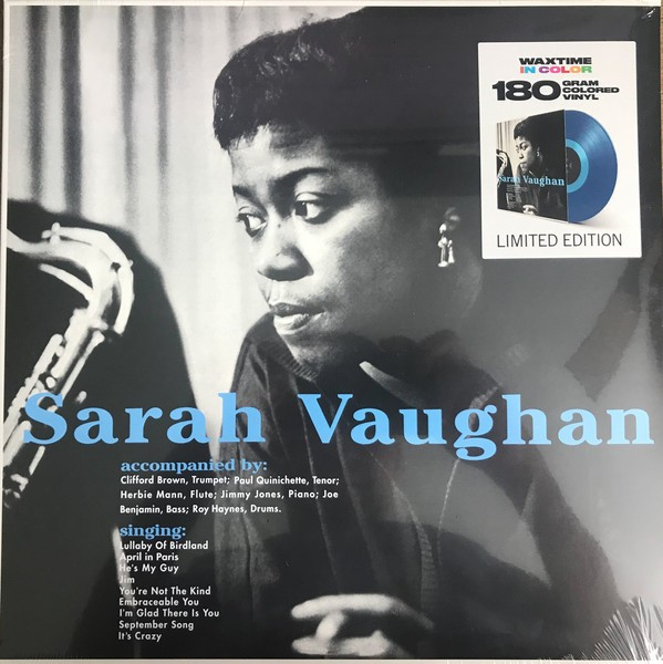 Sarah Vaughan - With Clifford Brown (Limited Edition Blue Vinyl) VINYL - 8436559465939