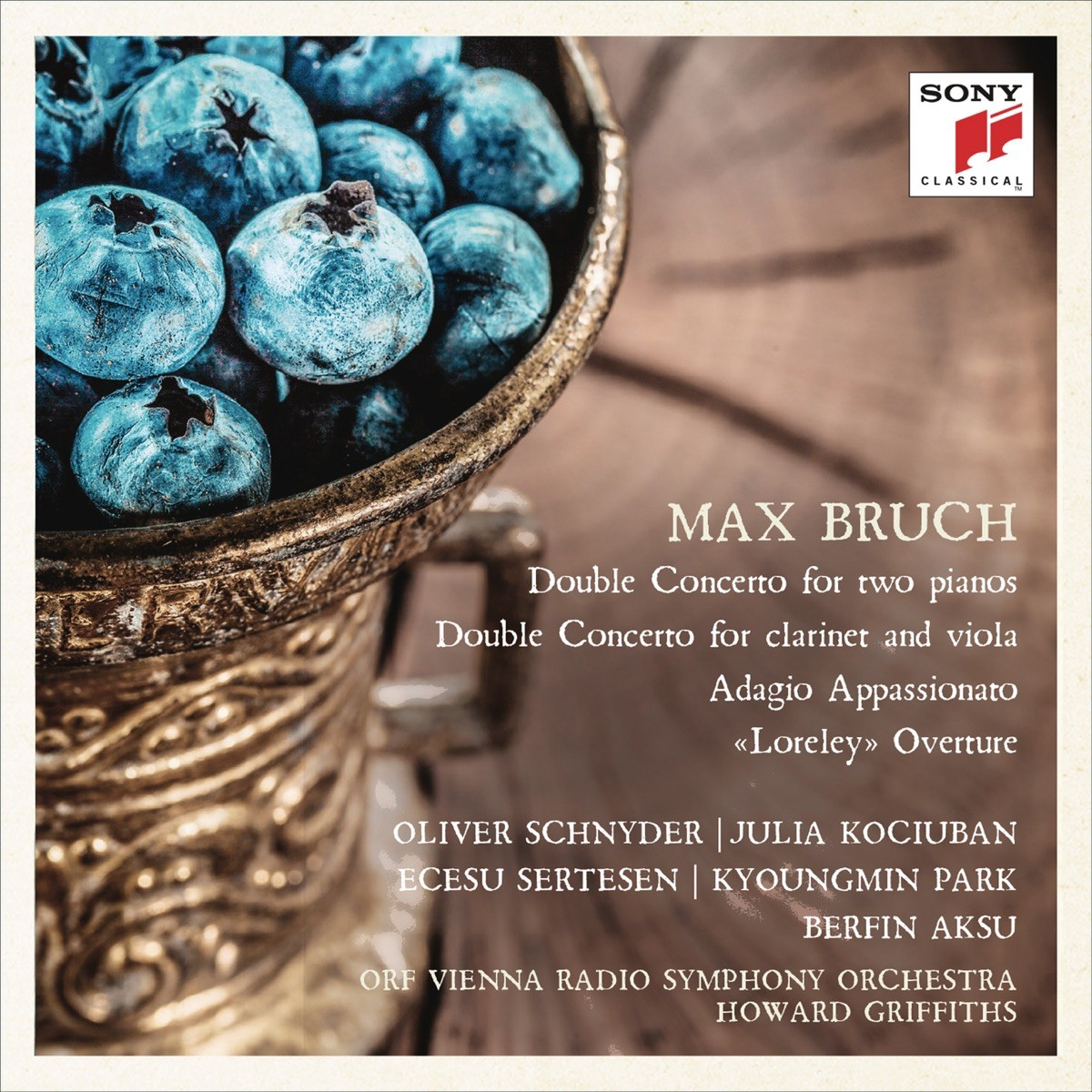 ORF Vienna Radio Symphony Orchestra , Howard Griffiths - Bruch: Double Concertos, Adagio appassionato & Loreley Overture CD - 19075897452