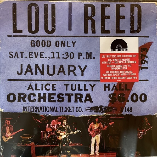 Lou Reed - Live At Alice Tully Hall (January 27, 1973 - 2nd Show) VINYL - 19439786871