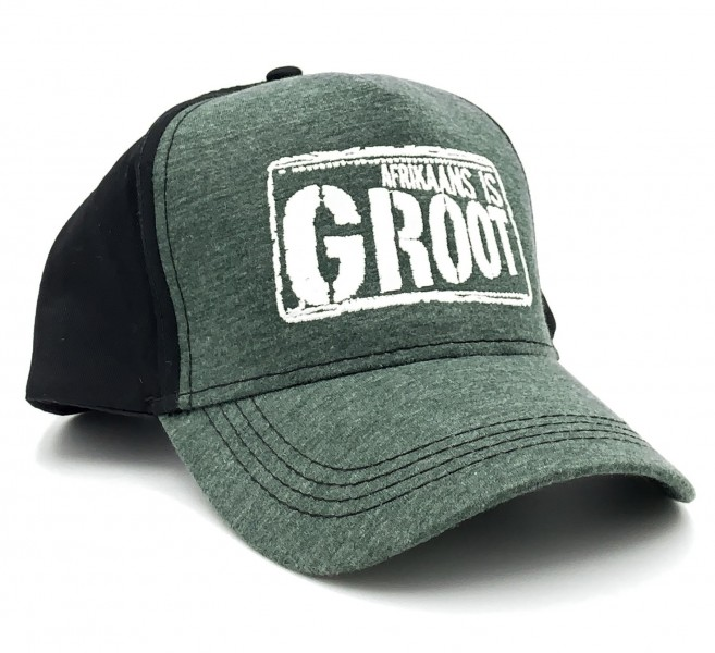 Afrikaans Is Groot Green And Black Cap  - AIGGB01