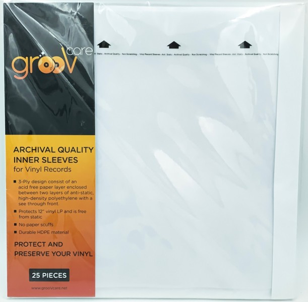 groovCare Archival Quality LP Inner Sleeves  - GCAQIS