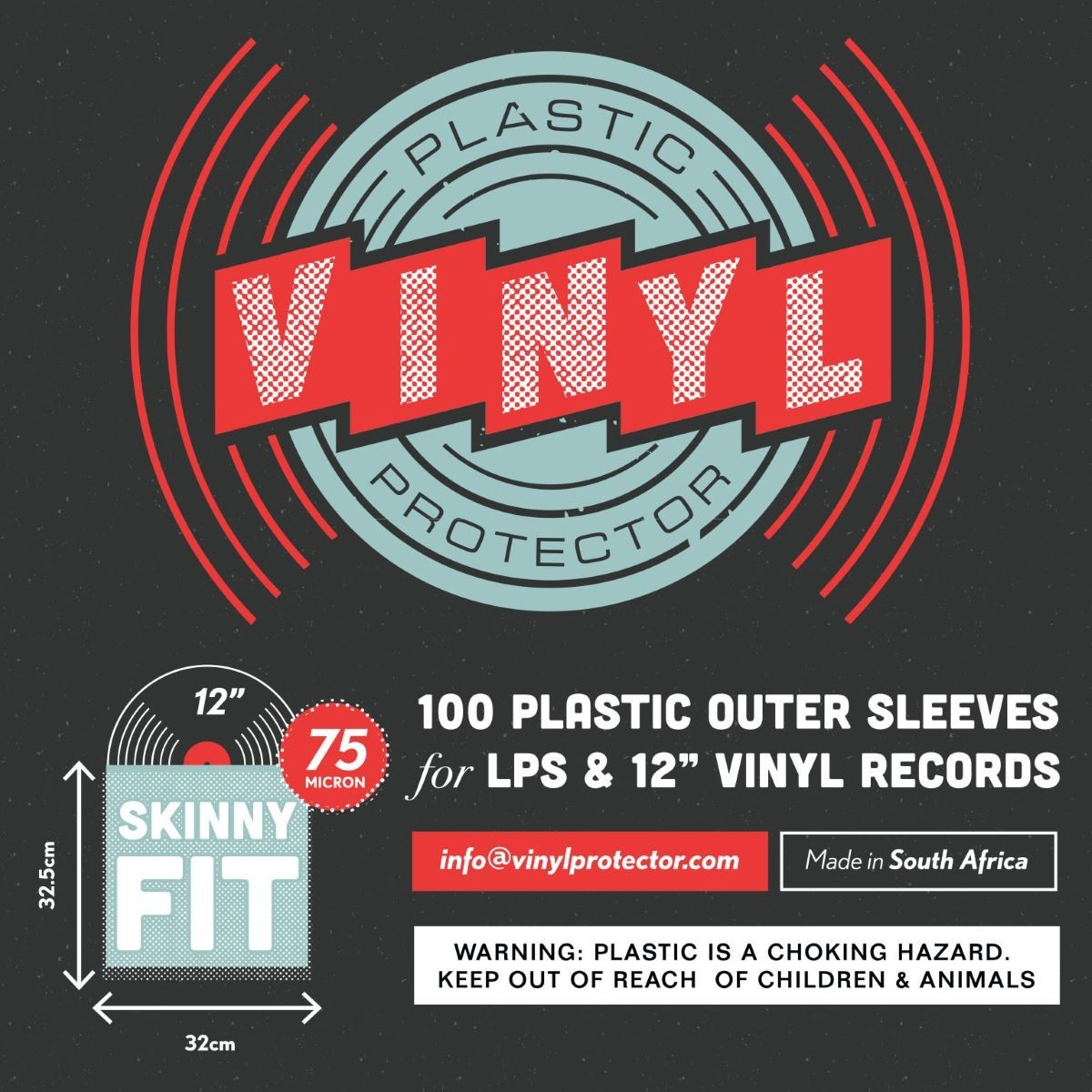 Vinyl Protector Slim Fit Outer LP Record Sleeves  - SLIMOUTERSLEEVES
