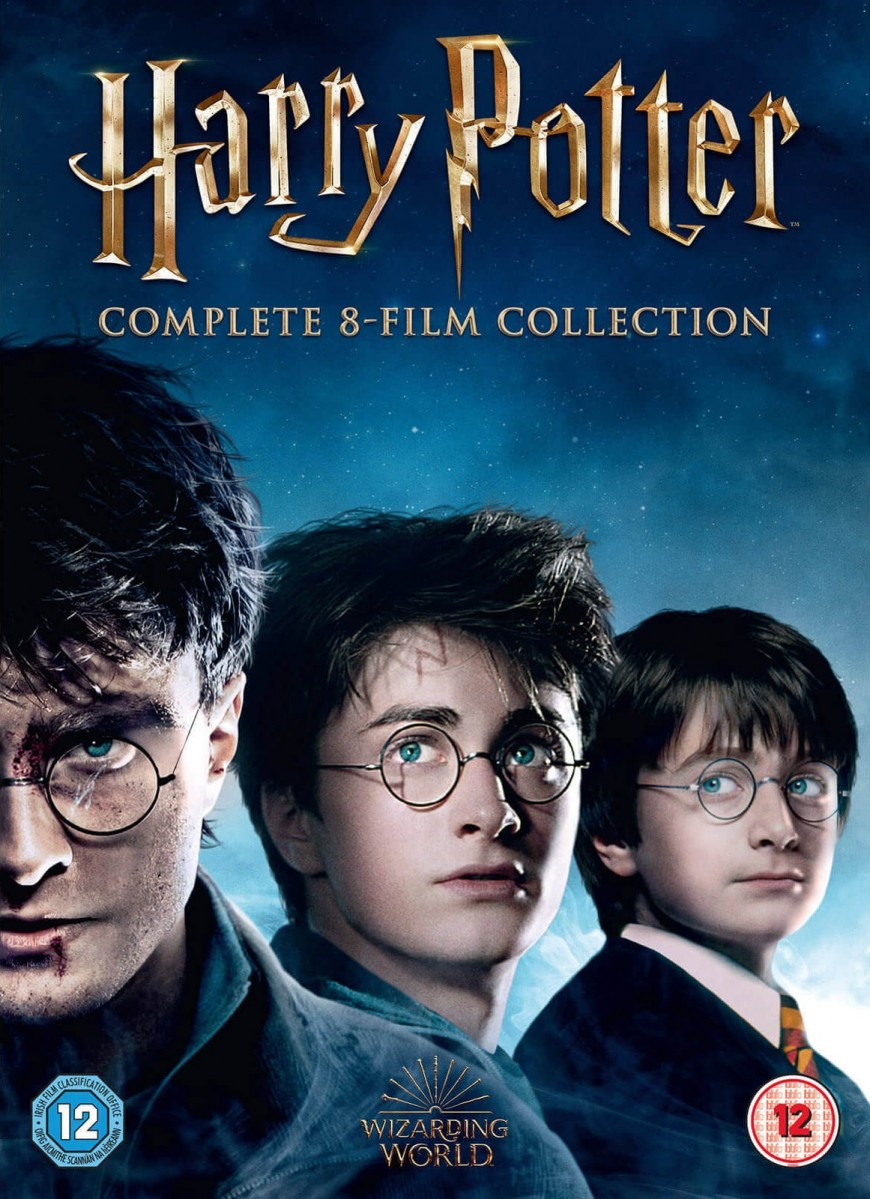 Harry Potter Complete 8 Film Collection Boxset DVD - 1000596922