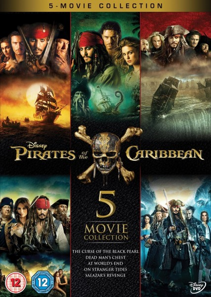 Pirates Of The Caribbean 5 Movie Collection DVD - BUG0277201