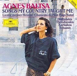 Agnes Baltsa , Athens Experimental Orchestra , Stavros Xarhakos - Songs My Country Taught Me CD - 00289 4777428
