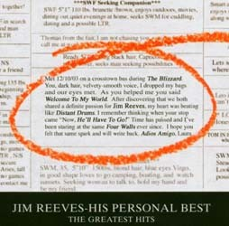 Jim Reeves - His Personal Best - The Greatest Hits CD - 82876586292