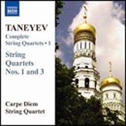 Taneyev - String Qts Vol 1 CD - 8570437