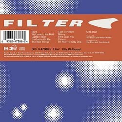 Filter - Title Of Record X CD - 9362475192