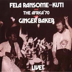 Fela Kuti - Live With Ginger Baker CD - WRASS 055