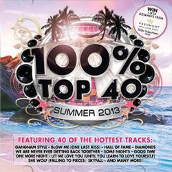 100% Top 40 Summer 2013 CD - CSRCD 364
