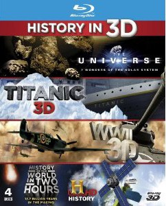 History In 3D: Universe 3D: Seven Wonders Of The Solar System/ Titanic: 100 Years In 3D/ WWII In 3D/ The History Of The World In Two Hours Blu-Ray - GOHCBD6595