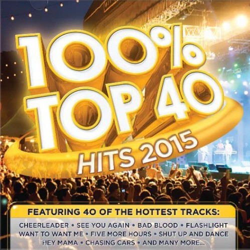 100% Top 40 Hits 2015 CD - CSRCD 396