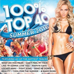 100% Top 40 Summer 2016 CD - CSRCD 399