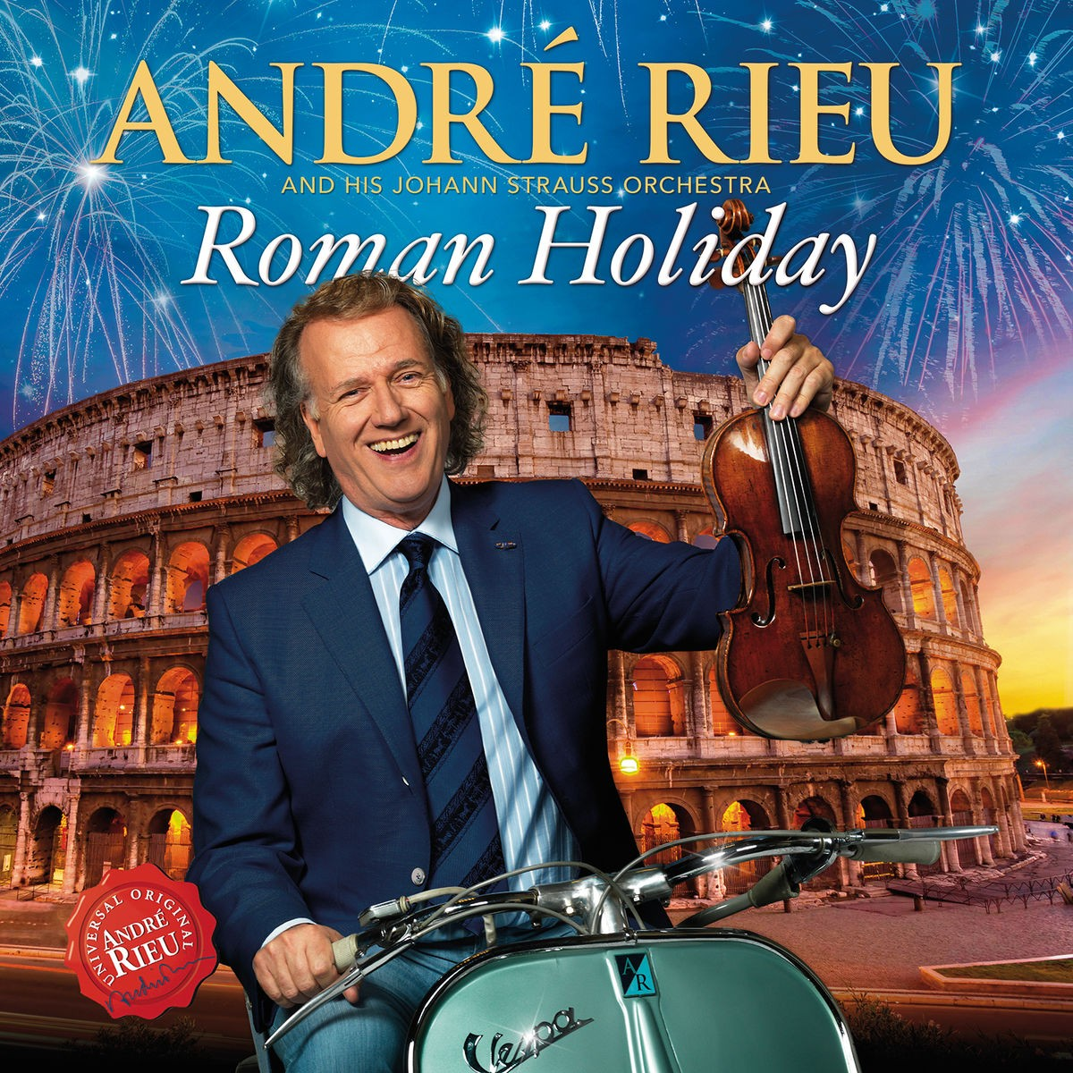andre rieu johann strauss orchestra roman holiday cd echo 39 s record bar online store. Black Bedroom Furniture Sets. Home Design Ideas