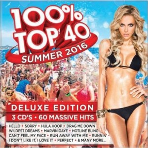 100% Top 40 Summer 2016 Deluxe Edition CD - CSRCD400