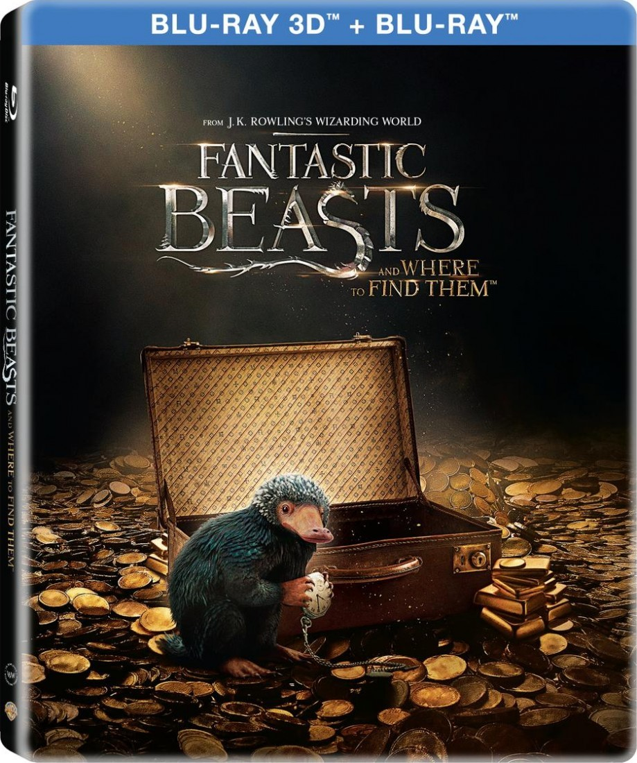 Fantastic Beasts and Where to Find Them (Steelbook) Blu-Ray+3D Blu-Ray - Y34561/1 BDW