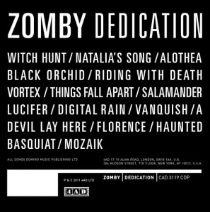 Zomby - Dedication VINYL - CAD 3119
