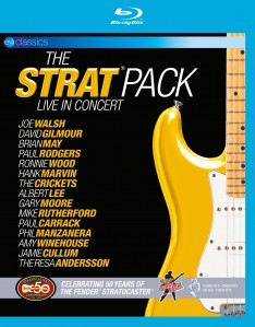 Joe Walsh , David Gilmour , Brian May , Paul Rodgers , Ronnie Wood , Hank B. Marvin , Albert Lee , Gary Moore , Mike Rutherford , Phil Palmer , Paul Carrack , Phil Manzanera , Amy Winehouse , Jamie Cullum , Theresa Andersson - The Strat Pack: Live in Concert - 50 Years of the Fender Stratocaster Blu-Ray - 5051300501471